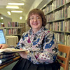 98/04/01 Wilson Librarian *Dennis Stierer photo - New Director of the Wilson Free Library, Connie Moss.