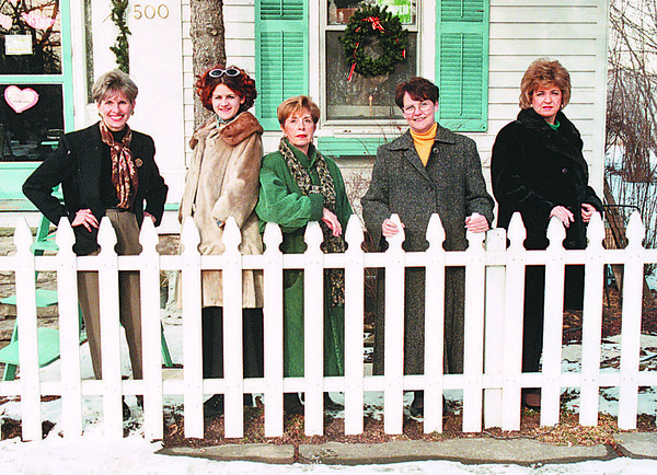 1/21/97 Lewiston Businesswomen - James Neiss Photo - country Doctor owners, L-R are - Gretchen Broderick, Dana Calanan, Nadine Lucas, Diane Gottman and Lucy Weller.