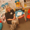 5/19/97--ANN MARIE TUCKER--DAN CAPPELLAZZO PHOTO--ANN MARIE TUCKER SITS IN THE PLAYROOM AT THE CHILD ADVOCACY  CENTER IN THE MIZEN BLDG. 10TH.<br /> <br /> FEATURE WED.