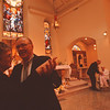 97/08/22-- organ concert--Takaaki Iwabu photo-- William and Ellen O'neil dances at St. Mary of The Cataract Church during Friday's organ concert. The concert, performed by Graham Mitchell, is part of the Church's 150th anniversary celebration.