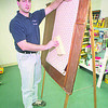 1/7/97 Wallpapering - James Neiss Photo - Wallpaper Demonstrations -  Giulio Colangelo owner of The Wallpaper & Paint Shoppe in lewiston.