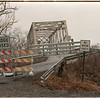 98/02/23 Peet Rd Bridge - James Neiss Photo - The Peet Road Bridge, just outside of Middleport, is closed. It goes over the cannal.