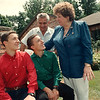 7/23/97-- Italian twins--Takaaki Iwabu photo-- From left, twin brothers Giulio and Luca Ferrari are from Italy and stayed with Peter and Laura Mascaro as they spent a month in Niagara Falls as exchange students.<br /> <br /> Friday (temporarily), 1A, color