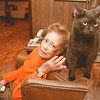 "98/01/26-BAD-ASS CAT--DAN CAPPELLAZZO PHOTO--BETTY THOMPSON, OF GI HANDS OUT WITH HER BAD ASS CAT ""DENNIS RODMAN.""<br /> <br /> WED FEATURE"