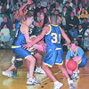 98/02/26--SECTION 6 HOOPS--DAN CAPPELLAZZO PHOTO--THE LKPT TEAM SWAMES IT'S OPPONENT IN A LATE SEASON GAME.<br /> <br /> SECTIONAL FOLDER