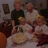 98/10/08 ST JOHN'S BAZZAR--DAN CAPPELLAZZO PHOTO--ST JOHN'S BAZZAR ORGANIZERS JOAN MULVEY (BACK LEFT) AND JEAN DYSINGER PREPARE PRIZES (BEENIE BABIES) WITH (LTOR) 5-YR -OLD CHACLYN BALCERZAK HER TWIN SISTER CHELBY BALCERZAK (FAR RIGHT) AND 3-YR-OLD SARAH MULVEY CENTER. SEE PRESS RELEASE