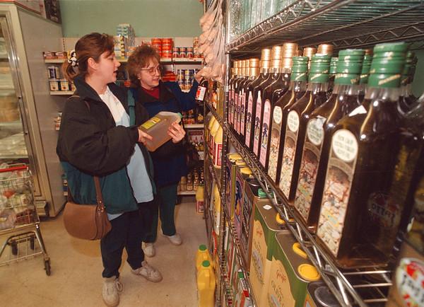 3/18/97 Latina Niagara - James Neiss PHoto - Tanya Seyler and Grandmother Darla Hartman, both of Niagara Falls shop at Latina Niagara Imports on Pine Ave.