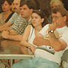 8/6/97-- town meeting--Takaaki Iwabu photo-- Residents of Wildwood Acres show their concern as they attend the Wednesday's meeting discussed on the recent kidnap attempt in their area.  Karen and Lester Losell, front, listen to the explanation by a Sheriff's investigator at Niagara No. 1 Fire Co.    --1A, Thursday, color