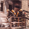 5/20/97 House Fire - James Neiss Photo - Niagara Falls Fire Fighters fought a smoker at 758 16th. At least one person went to hospital.