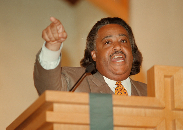 98/08/16 SHARPTON #2 *Dennis Stierer Photo -<br /> Rev. Al Sharpton during a serman at St. JohnÕs African Methodist Episcopal Church Sunday at noon.