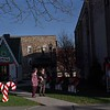 98/12/01Medina Christmas Village   *Dennis Stierer Photo<br /> Janet Hallifax and her daughter Leslie Green holding her son Trent look over the North Pole Village at the Town Square.
