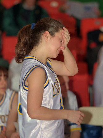 98/03/14 Disappointed *Dennis Stierer photo - Lockport senior, Kori Wallace is very disappointed after losing the game Saturday afternoon.