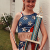 5/30/97-- miss majorette --Takaaki Iwabu photo-- Ashley Evans, 13, won the title of Junior Miss Majorette from New York State. <br /> <br /> tmc photo