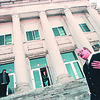 2/3/97--CHARTER SCHOOL/NF HIGH--DAN CAPPELLAZZO PHOTO--NIAGARA FALLS HIGH SCHOOL PRINCIPLE RUSSELL MURGIA STANDS ON THE STEPS OF THE SHCOOL AT RECESS AS HE COMMENTS ON THE STATE PROPOSAL FOR CHARTER SCHOOLS.<br /> <br /> 1A