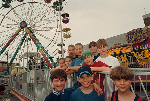 6/11/97-- carnival -- Students of St. John De LaSalle School visit their School's carnival site on 86th and Buffalo Ave. Wedensday, a day before the carnival's opening day. (Carnival will be there until Sunday)<br /> <br /> Grapevine photo