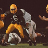 97/09/12--football --Takaaki Iwabu photo-- LaSalle HS RB ........... tries to break away Lew-Port HS defense during Friday night game. <br /> <br /> sports, Saturday, color