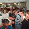 97/09/03 School Start 2 - James Neiss Photo - LaSalle HS students swarm into the building on the first day of shcool.