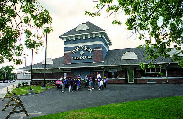 8/15/96--BATAVIA DWYER STADIUM--CAPPY PHOTO--EXTERIOR OF BATAVIA'S STADIUM.<br /> <br /> SPORTS