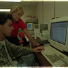98/06/02 Apprentice Program - James Neiss Photo - Annmarie Werth, Human Resources Manager at Van De Mark Group and Mentor to Greg Sanders 17yrs/12th grade, who is the first graduate of the School-to-Work Youth Apprentice Program. He will be attending Boston U. in the fall majoring in Computer Systems Engineering.