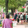 6/21/97--LEWISTON FEST 2--DAN CAPPELLAZZO PHOTO--A HEALTH CROWD BROWSES DOWN CENTER STREET IN LEWISTON FOR THE ANNUAL CRAFT FAIR.<br /> <br /> LOCAL NEWS