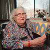 5/12/97 100th Birthday - James Neiss Photo - Mrs. Miriam Linn celebrates her 100th birthday at the Schoellkopf Health Care Center with Family and Friends.
