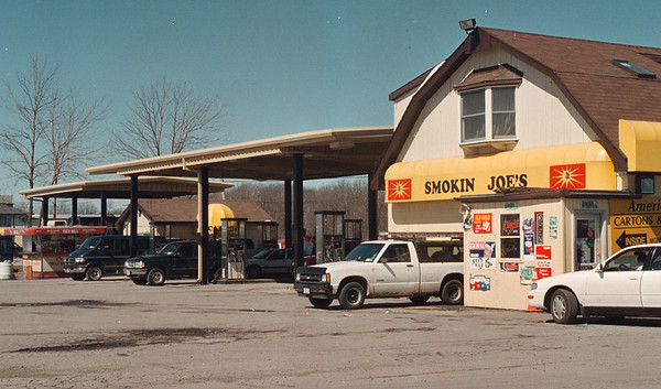 4/1/97 Reservation Taxes  2- James Neiss Photo - Smokin Joe's was business as usual despite the new tax law.<br /> <br /> Tuscarora Indian Reservation Spot News