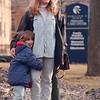 2/20/97--PARENTHOOD--DAN CAPPELLAZZO PHOTO--5-YR-OLD SAMANTHA SHAFFER HOLDS ON TO HER MOTHER DAWN SHAFFER WAIT WAITING TO BE PICK UP IN FRONT OF THE HAMILTON B. MIZER PRIMARY CARE CENTER ON 10TH STREET.<br /> <br /> 1A