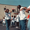 97/09/06-- Outreach --Takaaki Iwabu photo-- Members of True Deliverance Temple dance to the music during Saturday's community outreach program at the parking lot besides the Church on Niagara St. <br /> <br /> local, Sunday, color // Grapevine