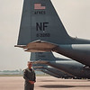 6/19/97--AIR SHOW PREVIEW(LEO)--DAN CAPPELLAZZO PHOTO--SR. MASTER SGT. GERRY LEO STANDS AT THE EDGE OF THE TARMAC AT THE NF AIRBASE, LEO WILL BE INVOLOVED IN THE UP COMING AIR SHOW.<br /> <br /> ECHO MIRROR