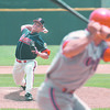 6/25/97--bisons 2 --takaaki iwabu photo-- Bison's ............... (#40) pitches against Oklahoma.
