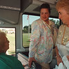 7/10/97 bus tour 3--tak Photo--Fay H. Panza, director of Golden Age Clubs of Niagara Falls, Inc., says good-bye to her customers. (She organize the bus trips.... )