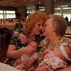 98/05/10--MOM'S DAY REUNION--DAN CAPPELLAZZ0 PHOTO--(LTOR)AFTER BEING GIVEN UP FOR ADOPTION 43 YEARS AGO  DENISE BEST, OF RANSOMVILLE, SHARES AN EMOTIONAL MOMENT WITH HER MOTHER LOUISE TATA,OF NF, AT THE BEST WESTERN, BFLO AVE. MRS BEST IN HOLDING GRANDAUGHTER KELLY LOUISE SECOR, 45 DAYS OLD, MRS TATA IS HOLDING GRANDDAUGHTER MARIAN MILLER 2 WEEKS OLD.<br /> <br /> 1A