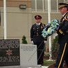 98/09/12 Sheriff Memorial-Rachel Naber photo- Sheriff's honor gaurd presents a wreath  at the Niagara County Sheriffs department Memorial dedication.