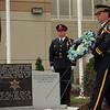98/09/12 Sheriff Memorial-Rachel Naber photo- Sheriff's honor gaurd presents a wreath  at the Niagara County Sheriffs department Memorial dedication.