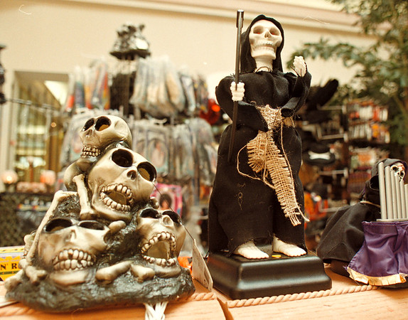 10/16/97--halloween 2--Takaaki Iwabu photo-- a detail shot of items sold at Spencer Gifts Halloween HQ....