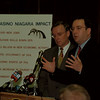 98/05/04 Gambling Petition Drive - James Neiss Photo - L-R - NYS Assemblyman Paul Tokasz and Senator Anthony R. Nanula hold a press conferance to announce kickoff of Casino Gaming Petition Drive. Down Town Buffalo.