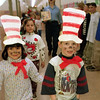 98/03/06 Costume Parade 3 * Dennis Stierer photo - Students at Thomas Marks Elementary school in Wilson dressed as their favorite storybook characters and marched around the school halls.  In this photo are (L-R) Lon Cano and Tommy McInerney