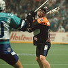 4/12/97-- The Bandits 3-- Tak photo-- Buffalo Bandits' Rich Kilgour aims a shot.......... he's a local guy.