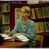 97/01/14 Deep in Thought - James Neiss PHoto - Josh Golba 14yrs in 9th grade at NFHS pauses in thought wile working  on a school project at the Niagara Falls Library.