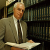 98/07/28-- L.Canal/Broderick--Takaaki Iwabu photo-- William D. Broderick, attorney at law in Niagara Falls, was pictured at his office on Main Street. (For Anne's story on Love Canal... He worked for Love Canal Agency in 80s...will be quoted)