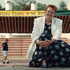 7/11/97- summer experience--Takaaki Iwabu photo-- Jane Schroeder, program director at Niagara Council of the Arts, organizes the 20th Summer Experience that begins today (Saturday) at Lackey E. Dent Plaza. <br /> <br /> 1A, Saturday