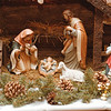 98/12/03 Cameo Inn 4 - Vino Wong Photo - The dining room of the Cameo Inn is filled with Nativity ornaments for the season celebration.