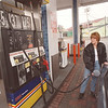 3/21/97 Gas Prices - James Neiss Photo - Sandy Krecisz of NF buys gas at the USA Mini Mart on Main Street.