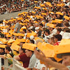 8/16/97--BILLS/CHEESE HEADS--DAN CAPPELLAZZO PHOTO--HUNDREDS OF GREENBAY CHEESE HEADS INVADE THE SKY DOME.<br /> <br /> 1A