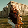 98/12/04 NF HIGH/LIGAMMARI--DAN CAPPELLAZZO PHOTO-- NF HIGH SALUTATORIAN LYNN LIGAMMARI HANGS IN FRONT OF THE SCHOOL WITH HER ALTO SAX. LIGAMMARI'S PASSION FOR JAZZ WILL TAKE HER  TO THE EASTMAN SCHOOL OF MUSIC IN ROCH.