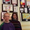 98/1/19 Bud Art3-Rachel Naber Photo-Steven Edmister (left) and Emily Frischholz (right) from Upson Shool at the Kenan Art Center.