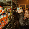 98/12/11 Food Stocking - James Neiss Photo - LaSalle Middle School 6th grader LeeAnne Sadler 11yrs, was helping to organize the food pantry at the Salvation Army on Buffalo Ave with other classmates.