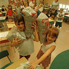 6/12/97 Pop Tabs - James Neiss Photo - Eric Fehrenbach 7yrs, Jessica Eddsall 7yrs, and classmates collected pop can tabs for charity. All are in Mrs. Janet Raby's 1st grade class at Colonial Village School.