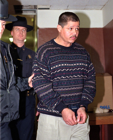 98/11/05 Natale Leaving Court *Dennis Stierer Photo<br /> Rene Natale being escorted out of the Niagara County Courthouse by Niagara County Deputies.