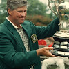 7/26/97-- porter cup, 1A--Takaaki Iwabu photo-- John Harris raises the Porter Cup after he won the tournament Saturday at NF Country Club. <br /> <br /> 1A, Sunday, color